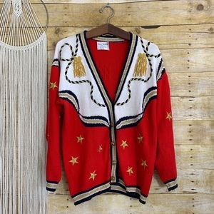 Vintage Maria Christina Golden Star Cardigan